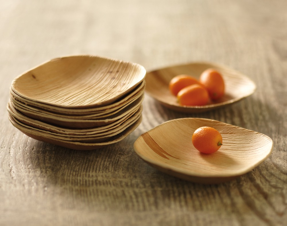 packaging alimentare consigli green piatti in foglia di palma